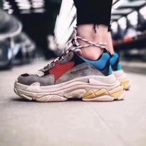 Balenciaga鞋子-04-5 權志龍同款Triple-S Sneaker時裝復古情侶款厚底做舊球鞋