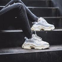 Balenciaga鞋子-04-3 權志龍同款Triple-S Sneaker時裝復古情侶款厚底做舊球鞋