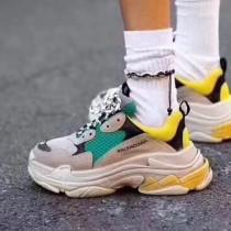 Balenciaga鞋子-04-4 權志龍同款Triple-S Sneaker時裝復古情侶款厚底做舊球鞋