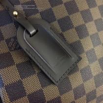 LV N44045 輕便實用原單咖啡色棋盤格大號單肩購物袋