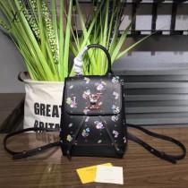 LV M54573-3 原版小牛皮花卉印花時尚潮流迷你雙肩背包