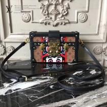 LV M94219-7 時裝走款秀PETITE MALL原單歌舞伎貼飾設計盒子包