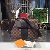LV N64416-3 時尚新品女士BOND STREET原單咖啡格配黑色手提單肩包