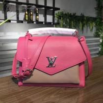 LV M54997 經典校園背包時尚小牛皮玫瑰紅百搭手提單肩斜挎包