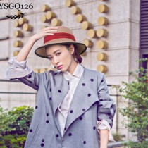 GUCCI帽子-012 古馳專櫃爆款刺繡LOGO羊絨禮帽