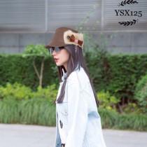 CHANEL帽子-04-3 香奈兒專櫃同款獨特設計保暖必備高級羊絨軍帽