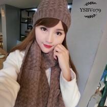 BV帽子-01-5 寶緹嘉重磅推薦新款羊毛針織帽子圍巾套裝