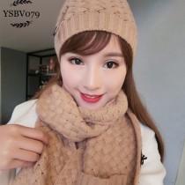 BV帽子-01-2 寶緹嘉重磅推薦新款羊毛針織帽子圍巾套裝