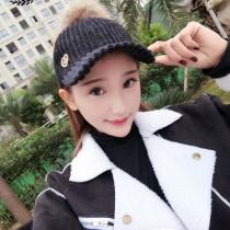 CHANEL帽子-07-2 香奈兒專櫃同步銷售休閒女式原版狐狸毛球棒球帽