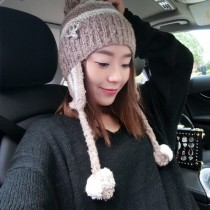 CHANEL帽子-09-2 香奈兒時尚大方簡單可愛毛球針織帽