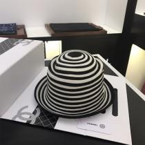 CHANEL帽子-011 香奈兒時尚復古風點鉆五金logo百分百純羊絨小禮帽