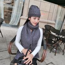 BV帽子-01-4 寶緹嘉重磅推薦新款羊毛針織帽子圍巾套裝