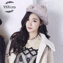 CHANEL帽子-012 香奈兒經典時尚保暖兔毛球搭配羊毛針織貝雷帽