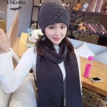 Chrome Hearts帽子-01 克羅心秋冬保暖新款頂級羊絨帽子圍巾套裝