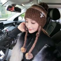 CHANEL帽子-09 香奈兒時尚大方簡單可愛毛球針織帽