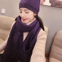 BV帽子-01-6 寶緹嘉重磅推薦新款羊毛針織帽子圍巾套裝