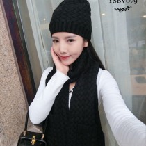 BV帽子-01-3 寶緹嘉重磅推薦新款羊毛針織帽子圍巾套裝