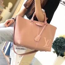 LV M54780 優雅女士PERNELLE原單裸粉色小牛皮手提單肩包
