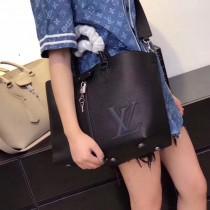 LV M54780-3 優雅女士PERNELLE原單黑色小牛皮手提單肩包