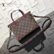 LV-M41218-2 新款原版皮帆布多彩粒紋精緻PALLAS BB手袋