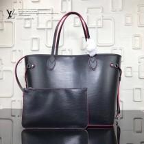 LV-M54185-2 新款水波紋奢華Epi皮革實用精巧時尚Neverfull中號購物袋手袋
