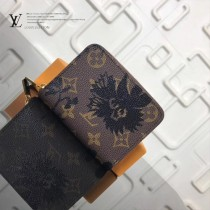 LV-M60067 新款絲印花朵精巧緊湊最新款拉鏈錢包