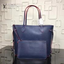 LV-M54185 新款水波紋奢華Epi皮革實用精巧時尚Neverfull中號購物袋手袋