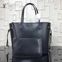 LV-M54185-4 新款水波紋奢華Epi皮革實用精巧時尚Neverfull中號購物袋手袋