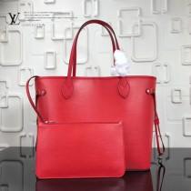 LV-M54185-3 新款水波紋奢華Epi皮革實用精巧時尚Neverfull中號購物袋手袋