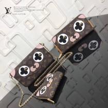 LV-M62310 原單愛情狗情人節主題設計帆布zippy拉鏈零錢包