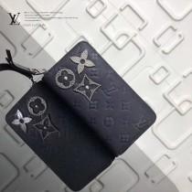 LV-M62069-2 原單暗藍色花卉金屬飾釘前衛Zippy拉鏈錢夾