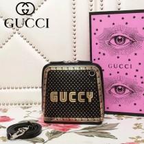 GUCCI 505221-1 古馳原版BOX皮新款時尚斜跨包
