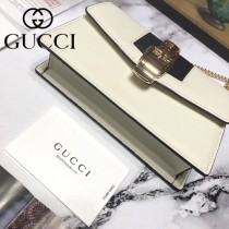 GUCCI 494646 精緻小巧凹造型神器Sylvie系列鏈條斜挎包可放iPhoneX
