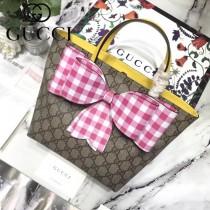 GUCCI 501804-1 古馳新款甜美田園風蝴蝶結購物袋