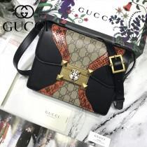 GUCCI 497995-1 古馳新款時尚百搭印花拼色方包原版皮郵差包