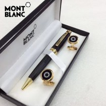 MONTBLANC袖釦-021 萬寶龍男士商務袖釦另送原裝盒