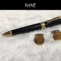 Korloff 袖釦-02 卡洛夫男士商務袖扣   送原裝盒