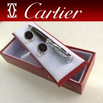 CARTIER袖釦-025 卡地亞男士商務袖釦   送原裝盒