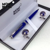 MONTBLANC袖釦-026 萬寶龍男士商務袖釦另送原裝盒
