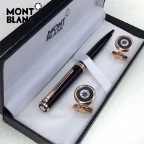MONTBLANC袖釦-023 萬寶龍男士商務袖釦另送原裝盒