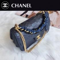 CHANEL  8033 香奈兒原版皮搖滾時尚混搭風鏈條大包 可手提肩背