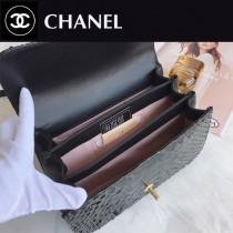 CHANEL  8033-01 香奈兒原版皮搖滾時尚混搭風鏈條大包 可手提肩背
