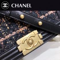 CHANEL 01138 專櫃新品LEBOY系列原版毛呢面料單肩斜挎包