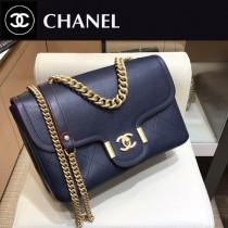 CHANEL  8073-02  香奈兒原版皮時尚新款中號超柔軟鹿紋皮斜挎鏈條包