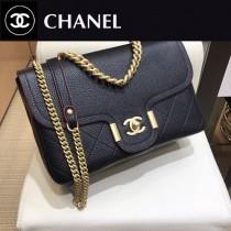 CHANEL  8073  香奈兒原版皮時尚新款中號超柔軟鹿紋皮斜挎鏈條包