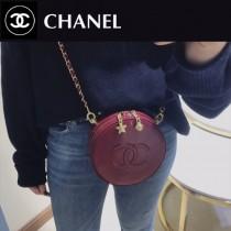 CHANEL 01134 香奈兒原版皮時尚新款星月圓盒