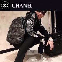 CHANEL 01137 香奈兒CoCo太空系列超級軟羽绒包時尚新款百搭雙肩包