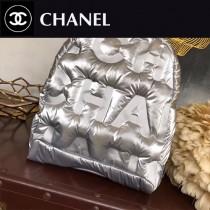 CHANEL 01137-01 香奈兒CoCo太空系列超級軟羽绒包時尚新款百搭雙肩包