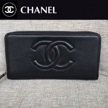 CHANEL 05231 香奈兒新款時尚單品多卡槽設計長款錢包 平紋簡潔大方