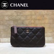 CHANEL 82365-1 香奈兒新款原單夏季新款進口球紋牛皮和羊皮拉鏈零錢包卡包